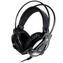 HP H100 Wired Headset Gaming Headphone (Black, On the Ear)