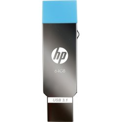 HP MM-OTG064GB-02P 64 GB OTG Drive(Silver, Blue, Type A to Micro USB)