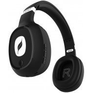 Leaf Ear Bass Bluetooth Headset   (Black, Wireless over the head)