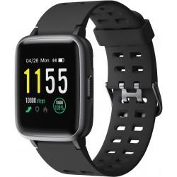 PLAY FIT SW75 Smartwatch (Black Strap, Regular)