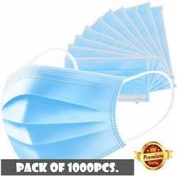 Disposable 3Ply Surgical Face Mask (Pack 0f 1000)