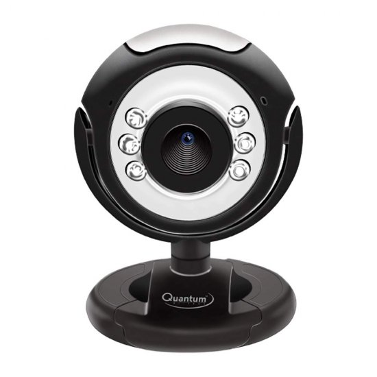 Quantum QHM495LM 6 Light Webcam For Laptop/Desktop (Black)