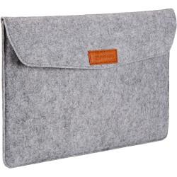 15.4-inch Felt Laptop Sleeve (Light Grey)