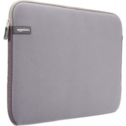 15.6-inch Laptop Sleeve - Internal Dimensions - 15 X 0.4 X 11 Inches - Grey