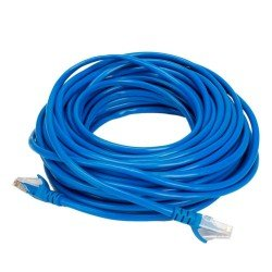 Terabyte CAT5E RJ45 Ethernet LAN Cable, 15 Feet (Blue)