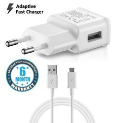2.0 AMP FAST Charger With 1.2mt Data Cable For Samsung Galaxy S6,J5,J7,All Smartphone Supportable
