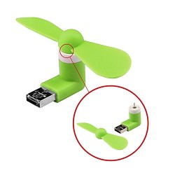 Digihub 2 in 1 Micro USB - OTG Fan - Assorted Color