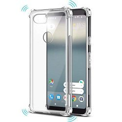 Anti-Slip Grip Soft Transparent Back Cover Case for Google Pixel 2-