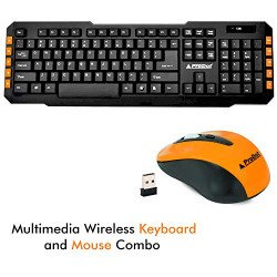 Prodot (Gold Series) TLC-107+145 (Wireless) Multimedia Keyboard and Mouse Combo (Color: Peel Orange)