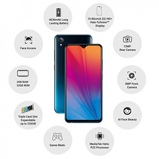 Vivo Y91i (Fusion Black, 2 GB RAM, 32 GB Storage) Open Box