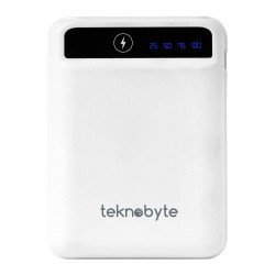 Teknobyte A03-5000mAh Portable Power Bank (White)