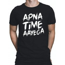 Apna Time Aayega Cotton Round Neck T-Shirt for Mens
