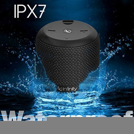 Infinity (JBL) Fuze 100 Deep Bass Dual Equalizer IPX7 Waterproof Portable Wireless Speaker (Charcoal Black)