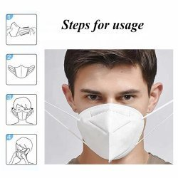 KN95 Anti Pollution, Reusable, Non-woven with Melt Blown Protective Layer Face Mask, Set of 5
