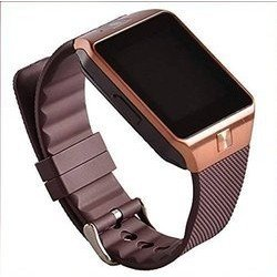 DZ Golden Bluetooth Wearable Smart Watch / Wrist Watch with Sim Card Support for High Quality Calling | Touch Screen