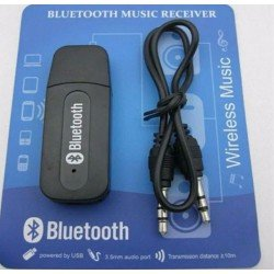 Bluetooth Adapter Dongle Audio Music Receiver with 3.5 mm Aux Cable