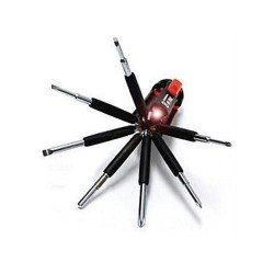 8 In 1 Multi Screwdriver Torch Kit