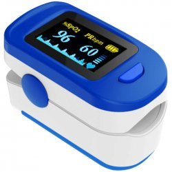 Finger Tip Pulse Oximeter with OLED Display, CE0123 Certified(Blue color)